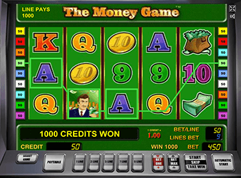 В казино автоматы The Money Game